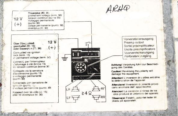 fitting blaupunkt sqr 46 3 2 carrera impact bumpers rh impactbumpers com Car Amp Wiring Diagram Wiring Harness Diagram