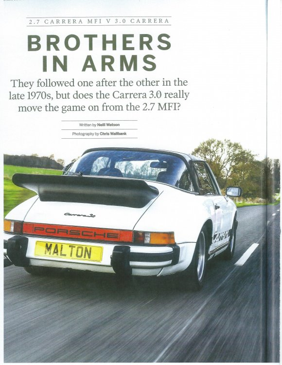 Carrera 3.0 vrs. 74-75 Euro Carrera from Total 911 magazine iss0001.jpg